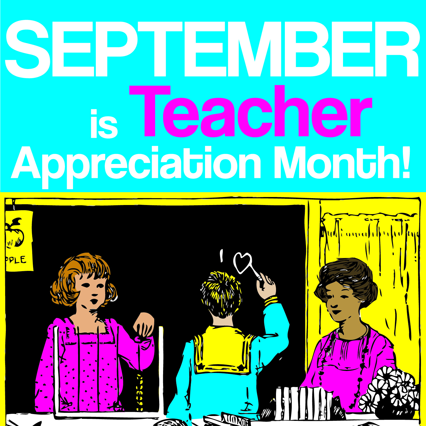 September is Teacher Appreciation Month! – The Scrap Exchange